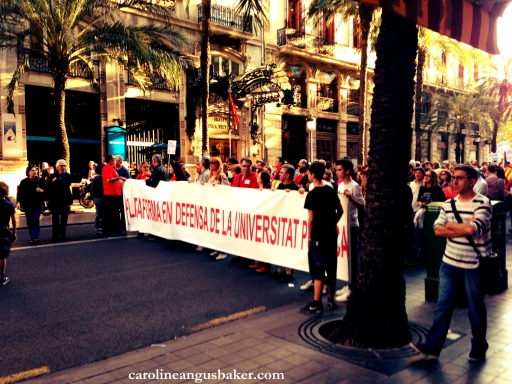 protesting in Valencia