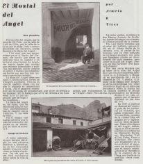 1930 article on Hostal del Angel